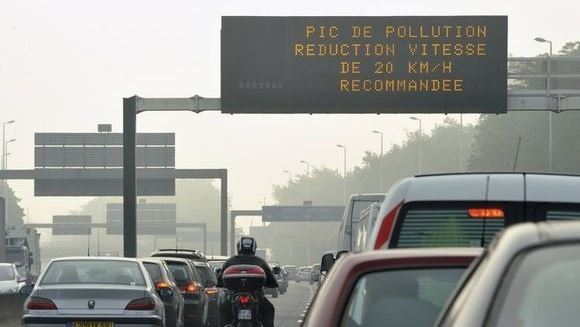 Panneau Pollution