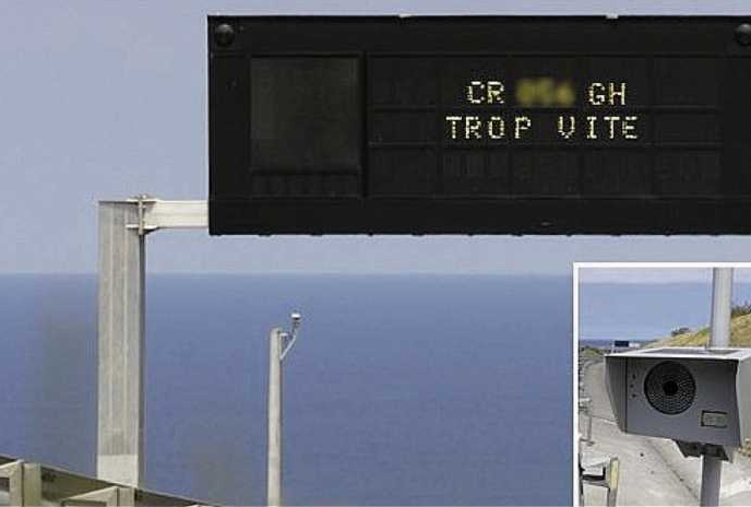 Photo d'un radar pédagogique